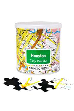 City Magnetic Puzzle Houston Cities Magnetic Puzzle