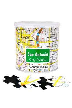 City Magnetic Puzzle San Antonio Cities Magnetic Puzzle