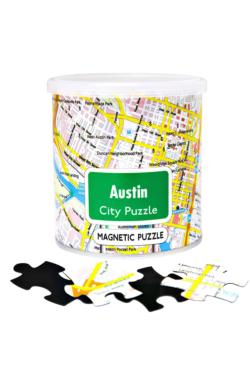 City Magnetic Puzzle Austin Cities Magnetic Puzzle