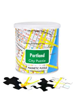 City Magnetic Puzzle Portland Cities Magnetic