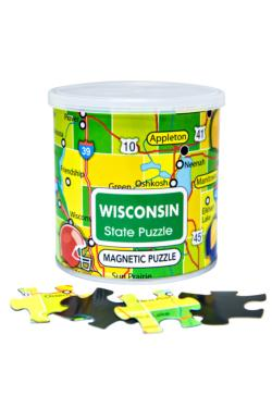 City Magnetic Puzzle Wisconsin Cities Magnetic