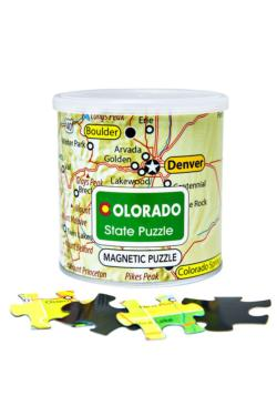 City Magnetic Puzzle Colorado Cities Magnetic