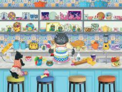 The Baker (Gigi the Cat) Cartoons Large Piece