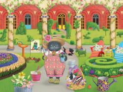 The Gardener (Gigi the Cat) Cartoons Large Piece