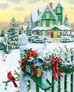 Holiday Mail Christmas Jigsaw Puzzle