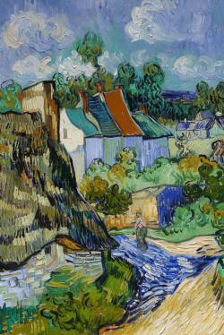 Houses in Auvers by Van Gogh People