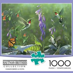 Hummingbirds and Hosta Butterflies and Insects Jigsaw Puzzle
