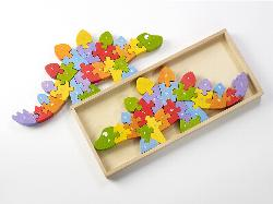 Dinosaur A-Z Puzzle Educational Wooden Jigsaw Puzzle