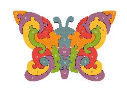 Butterfly A-Z Puzzle Educational Wooden Jigsaw Puzzle