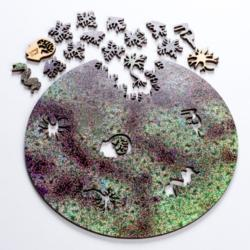 Stem Cell Round Anatomy & Biology Wooden Jigsaw Puzzle