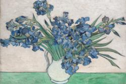 Irises in Vase by Van Gogh People