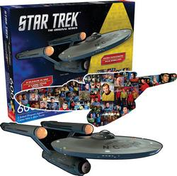 Star Trek Ship and Collage Collage Double Sided Puzzle