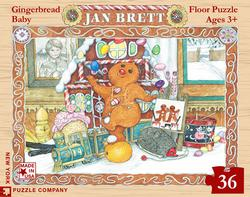 Jan Brett - Gingerbread Baby Christmas Children's Puzzles