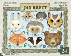 Jan Brett - The Mitten's Faces Wildlife Children's Puzzles