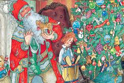 Jan Brett - The Night Before Christmas - Floor Puzzle Christmas Children's Puzzles