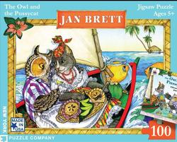 Jan Brett - The Owl and the Puzzycat Birds Jigsaw Puzzle