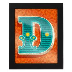 Jigsaw with a Frame - Letter D Alphabet/Numbers Frame Puzzle