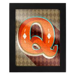 Jigsaw with a Frame 150 pcs - Letter Q Alphabet/Numbers Frame Puzzle