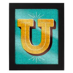 Jigsaw with a Frame - Letter U Alphabet/Numbers Frame Puzzle