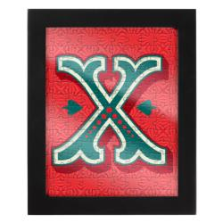 Jigsaw with a Frame - Letter X Alphabet/Numbers Frame Puzzle