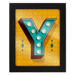 Jigsaw with a Frame Letter Y Alphabet/Numbers Frame Puzzle