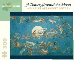 A Dance Around The Moon Horses Jigsaw Puzzle
