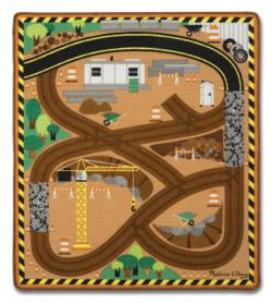 Round the Construction Zone Work Site Rug Toy