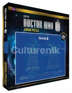 Dr. Who Blueprint Sci-fi Jigsaw Puzzle