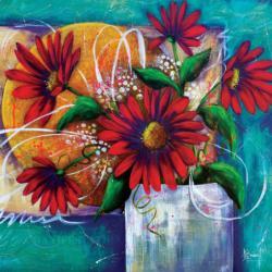 Manifestation Flowers Jigsaw Puzzle