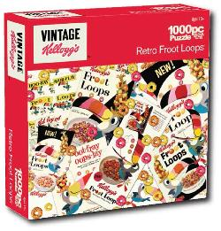 Retro Fruit Loops (Kellogg's) Americana & Folk Art Jigsaw Puzzle
