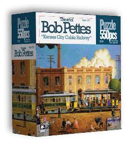 Kansas City Cable Railway Folk Art Jigsaw Puzzle