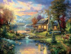 Nature's Paradise Cottage / Cabin Jigsaw Puzzle