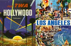 Hollywood and LA (TWA Travel Posters ) Cities Jigsaw Puzzle