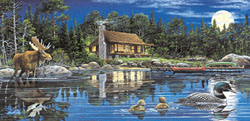 Reflections on Loon Landing Outdoors Jigsaw Puzzle
