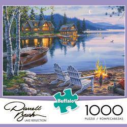 Lake Reflection Cottage/Cabin Jigsaw Puzzle