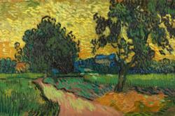 Landscape at Twighlight by Van Gogh People
