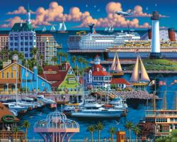 Long Beach Boats Jigsaw Puzzle