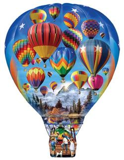 Hot Air Balloon Ride Mother's Day Shaped Puzzle