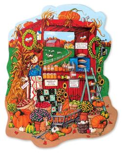 Farm Stand  Fall - Scratch and Dent Food and Drink Jigsaw Puzzle