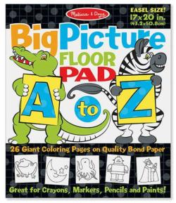 Big Picture Floor Pad A to Z Children's Coloring Books, Pads, or Puzzles