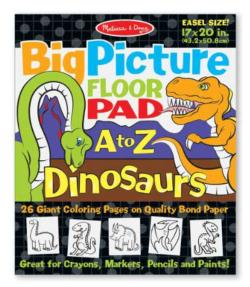 Big Picture Floor Pad A to Z - Dinosaurs Dinosaurs Children's Coloring Books - Pads - or Puzzles