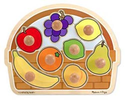 Fruit Basket Jumbo Knob Food and Drink Children's Puzzles