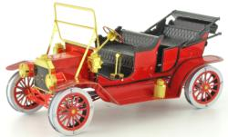 1908 Ford Model T Vehicle Red Nostalgic / Retro Metal Puzzles