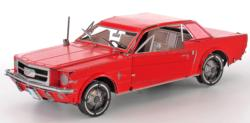 Ford 1965 Mustang Coupe 'Red Version' Nostalgic / Retro Metal Puzzles