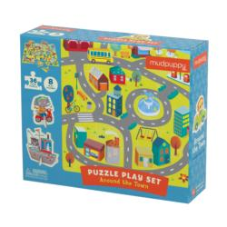 Around the Town Puzzle Play Set Vehicles Activity Kits