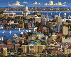 Madison, WI Lakes / Rivers / Streams Jigsaw Puzzle