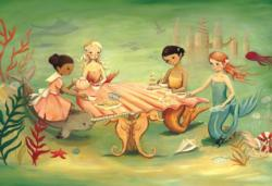 Mermaid Tea Party Mermaids Jigsaw Puzzle