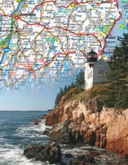 Maine State Map Maps / Geography Miniature Puzzle
