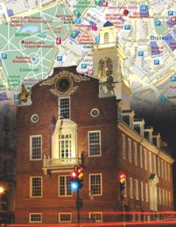 Boston City Map Boston Miniature Puzzle