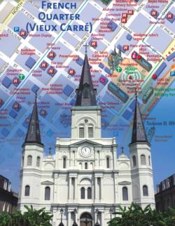 New Orleans City Map (Mini) Maps / Geography Miniature Puzzle